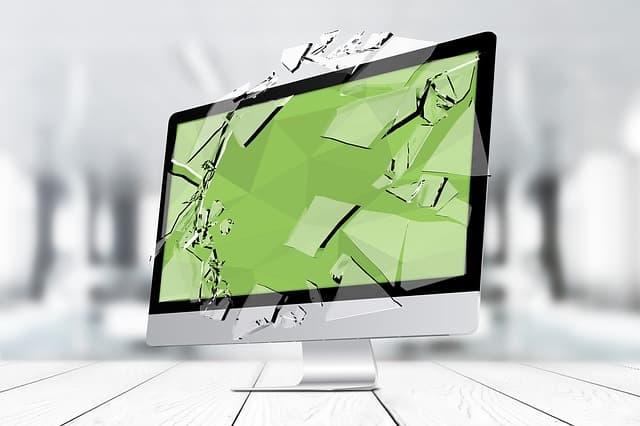 壊れたパソコン